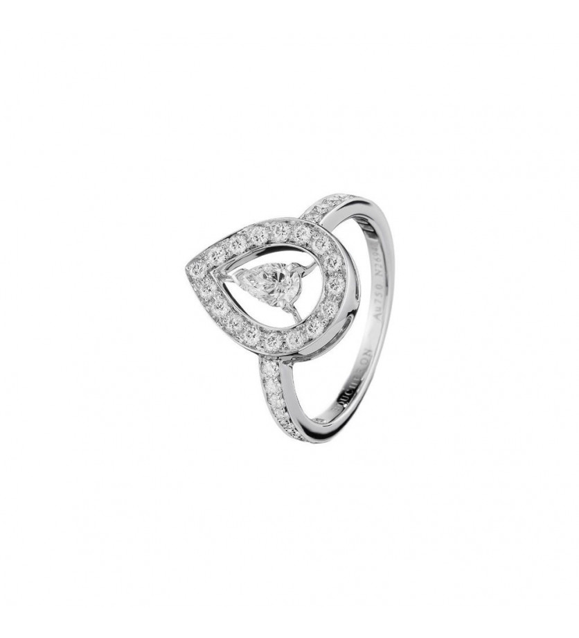 BOUCHERON BAGUE AVA NEW OR GRIS DIAMANT PAVE DIAMANT
