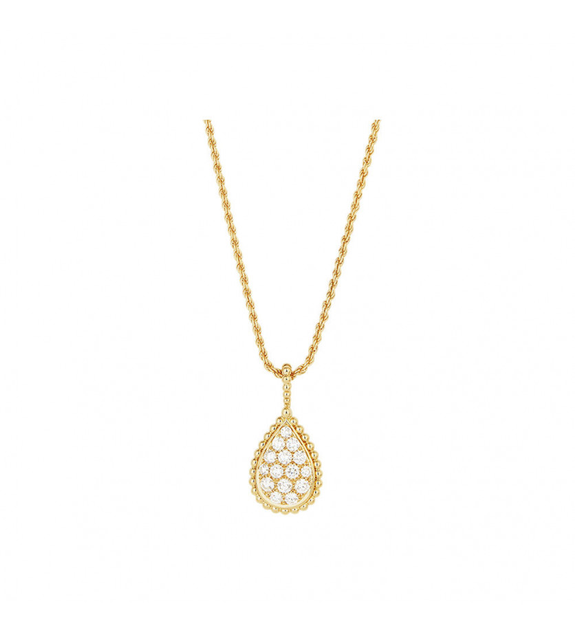 BOUCHERON Pendentif Serpent Boheme M or jaune diamants 0.65ct