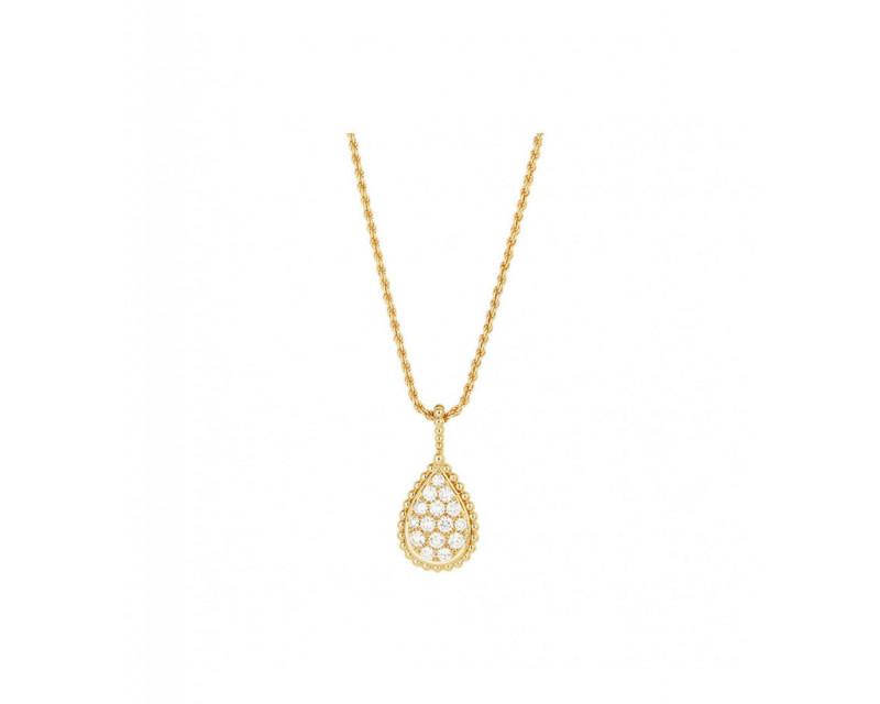 BOUCHERON Pendentif Serpent Boheme M or jaune diamants 0.65ct