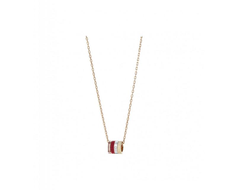 BOUCHERON Pendentif mini Quatre Red Edition or jaune or rose or blanc céramique rouge diamant
