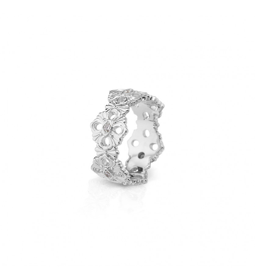 BUCCELLATI Bague Eternelle Opera or gris diamants