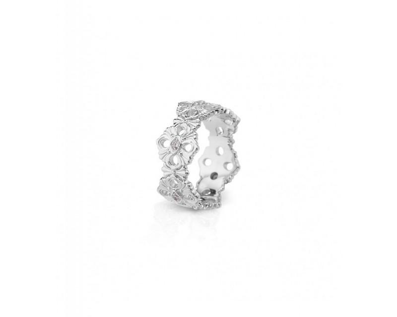 Bague Eternelle Opera or gris diamants
