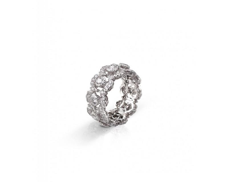 BUCCELLATI Bague Eternelle Ghirlanda or gris diamants
