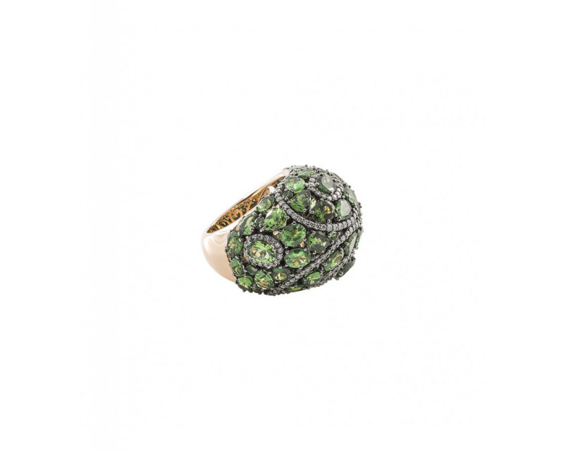 SEDA MANOUKIAN Bague Manouk or rose tsavorites diamants