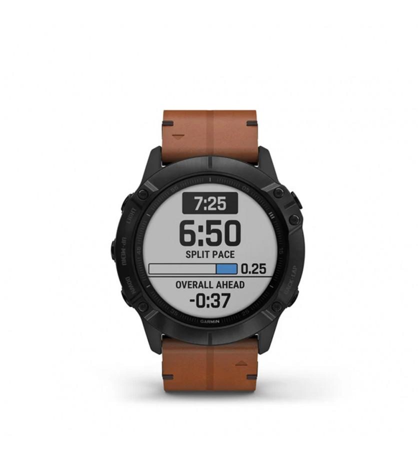 GARMIN Montre connectée Fenix 6X Sapphire Horlogerie Titane