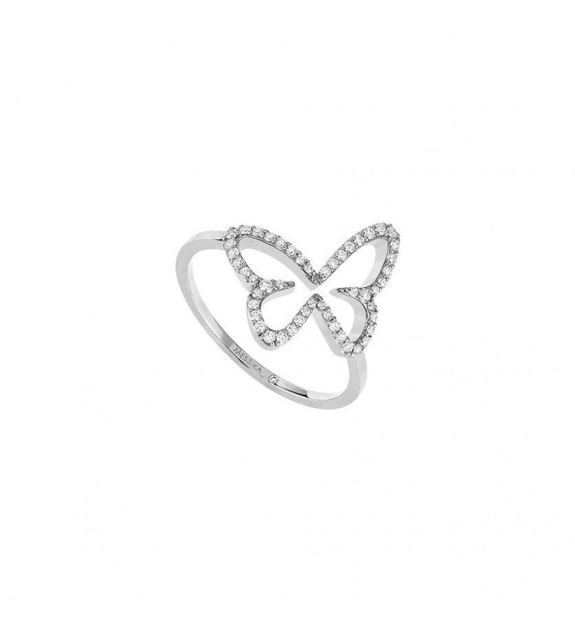Bague Butterfly or rose diamants