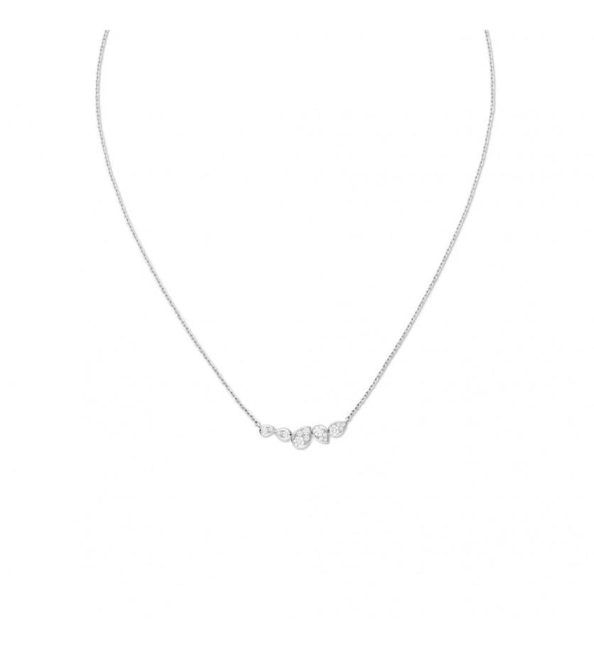 CHAUMET Collier Joséphine Ronde d'Aigrettes 5 motifs en or blanc pavé de diamants taille brillant, s