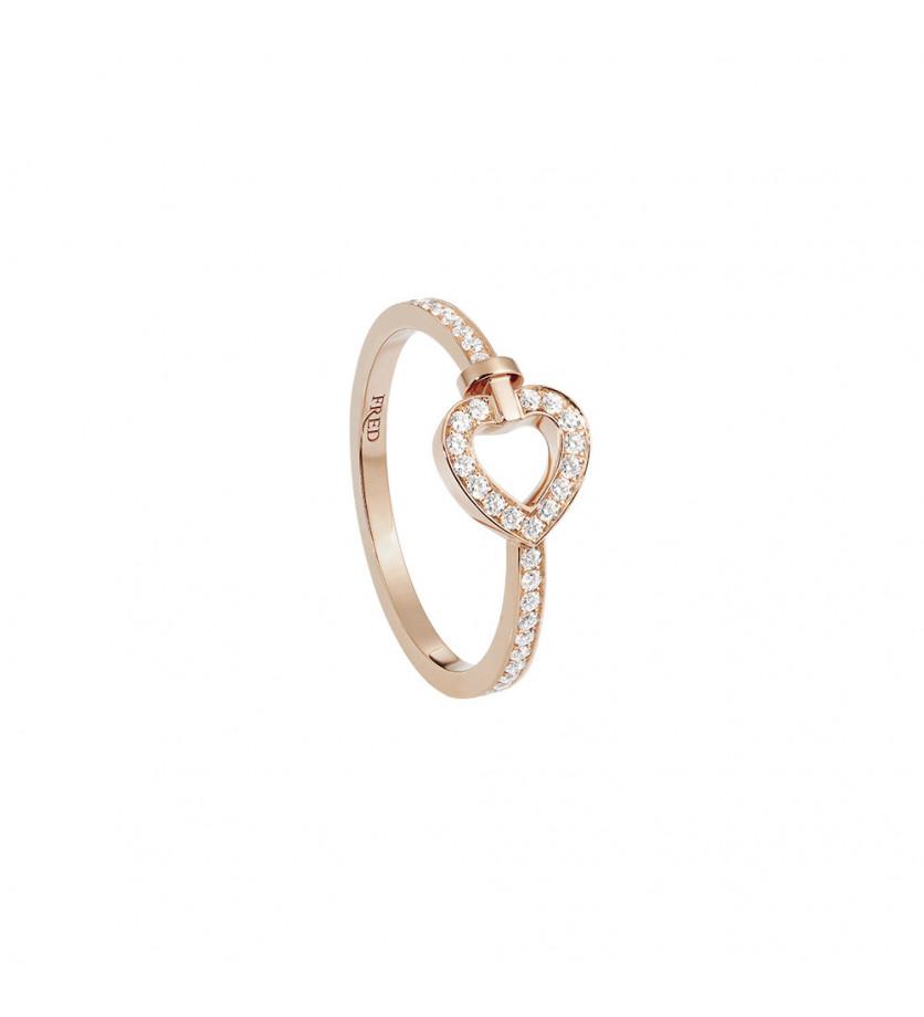 Bague Pretty Woman mini or rose full pavé diamants