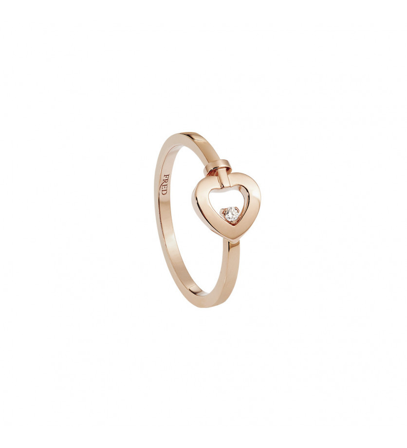 FRED Bague Pretty Woman mini or rose 1 diamant