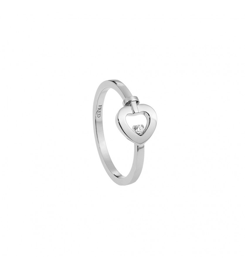 FRED Bague Pretty Woman mini or gris 1 diamant