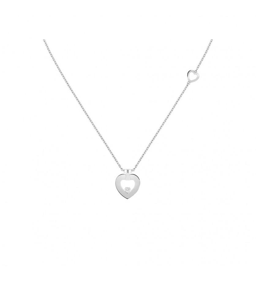 Collier chaine Pretty Woman mini or gris 1 diamant