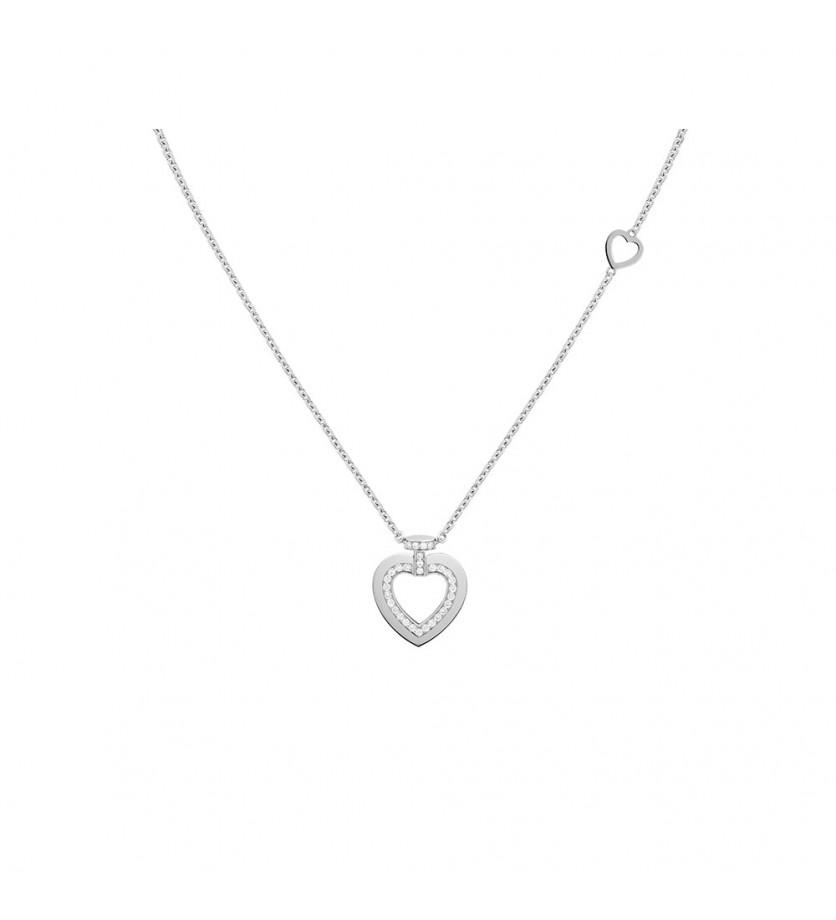 Collier chaine Pretty Woman PM or gris full pavé diamants