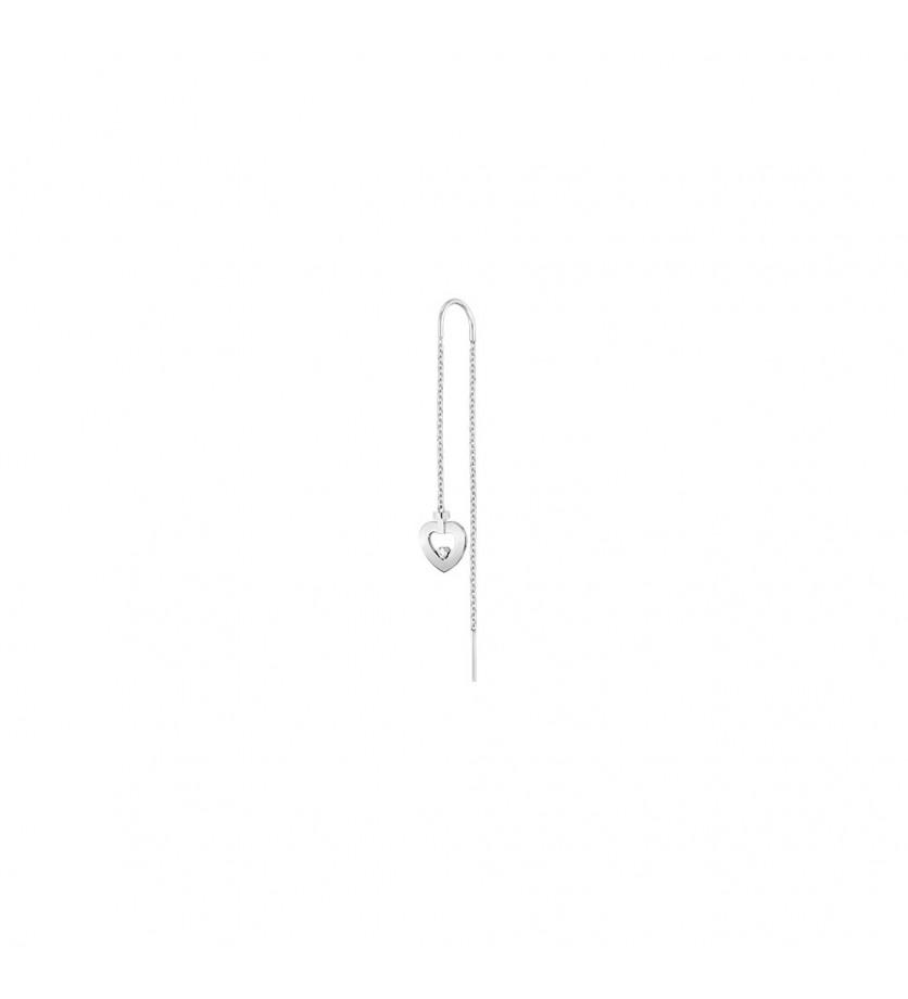 FRED Boucle d'oreille pendante Pretty Woman mini or gris 1 diamant à l'unité