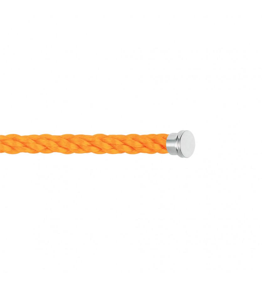 Câble Force 10 GM corderie orange fluo embouts aciers