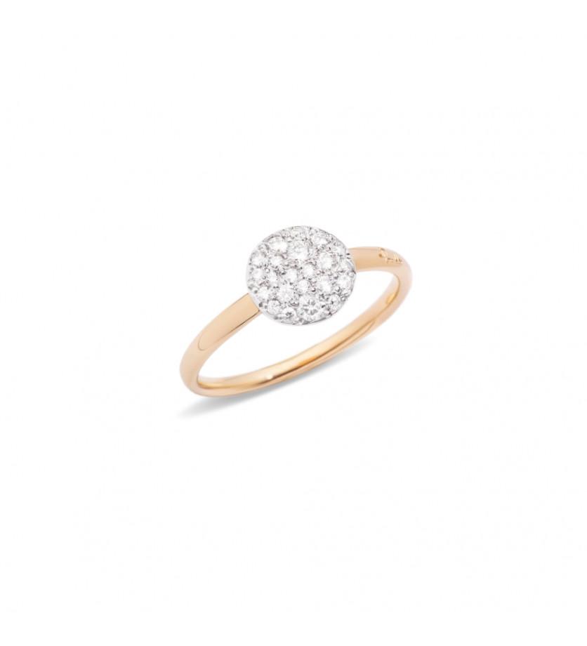 POMELLATO Bague Sabbia or rose diamants