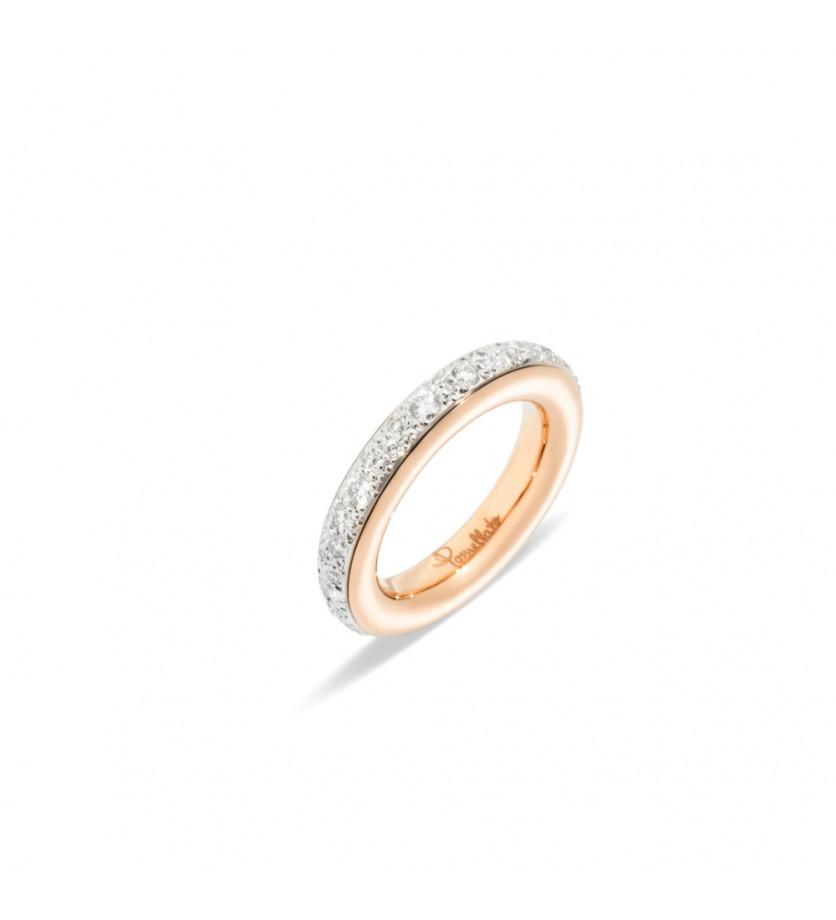 POMELLATO Alliance Iconica PM or rose pavé diamants