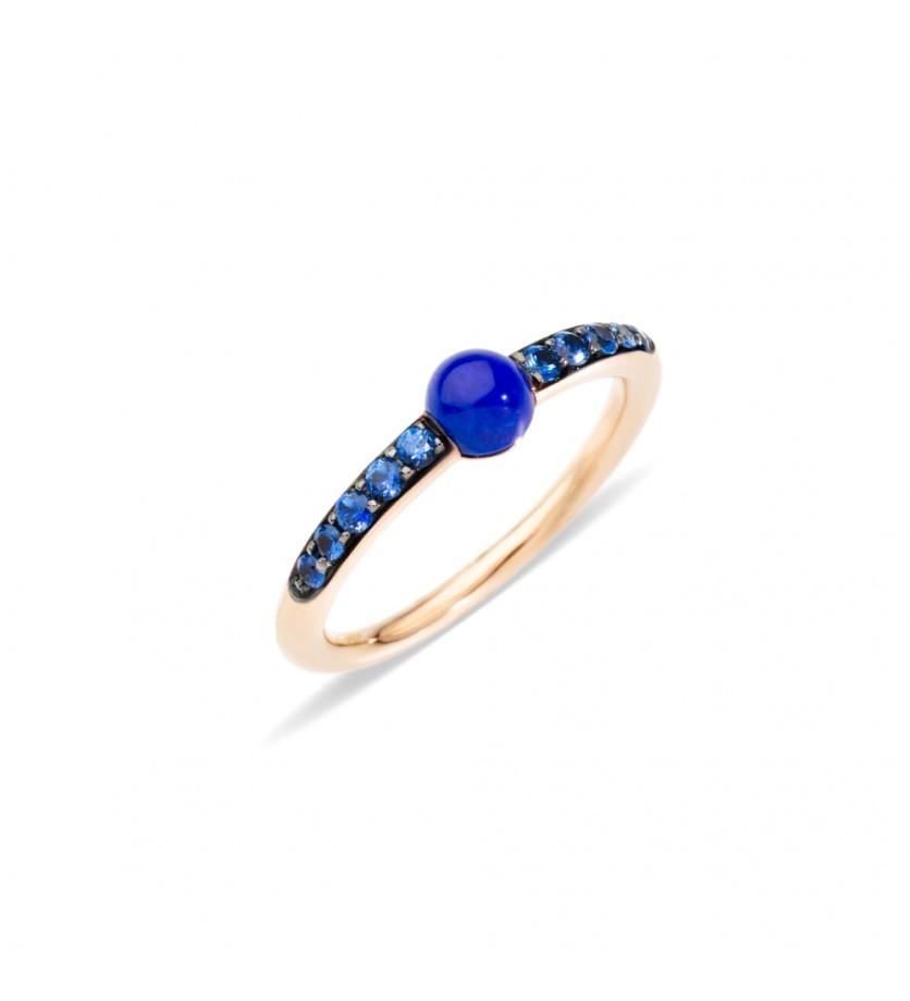 POMELLATO Bague M'ama Non M'ama or rose lapis lazuli saphirs bleu
