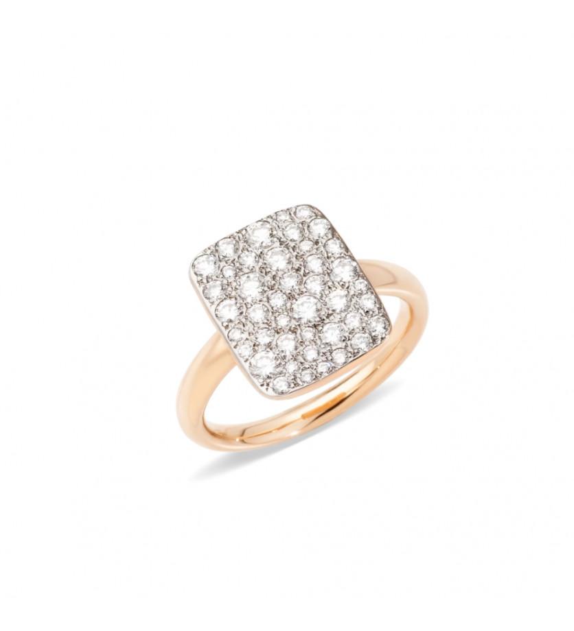 Bague Sabbia GM or rose et diamants