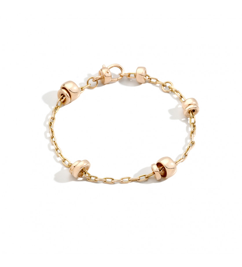 Bracelet Iconica or rose chaine 19cm