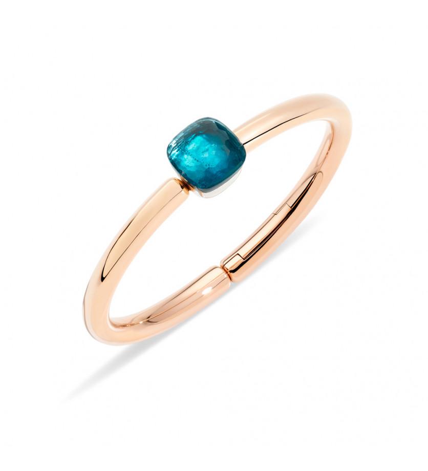 Bracelet Nudo or rose or blanc topaze Blue London 16cm
