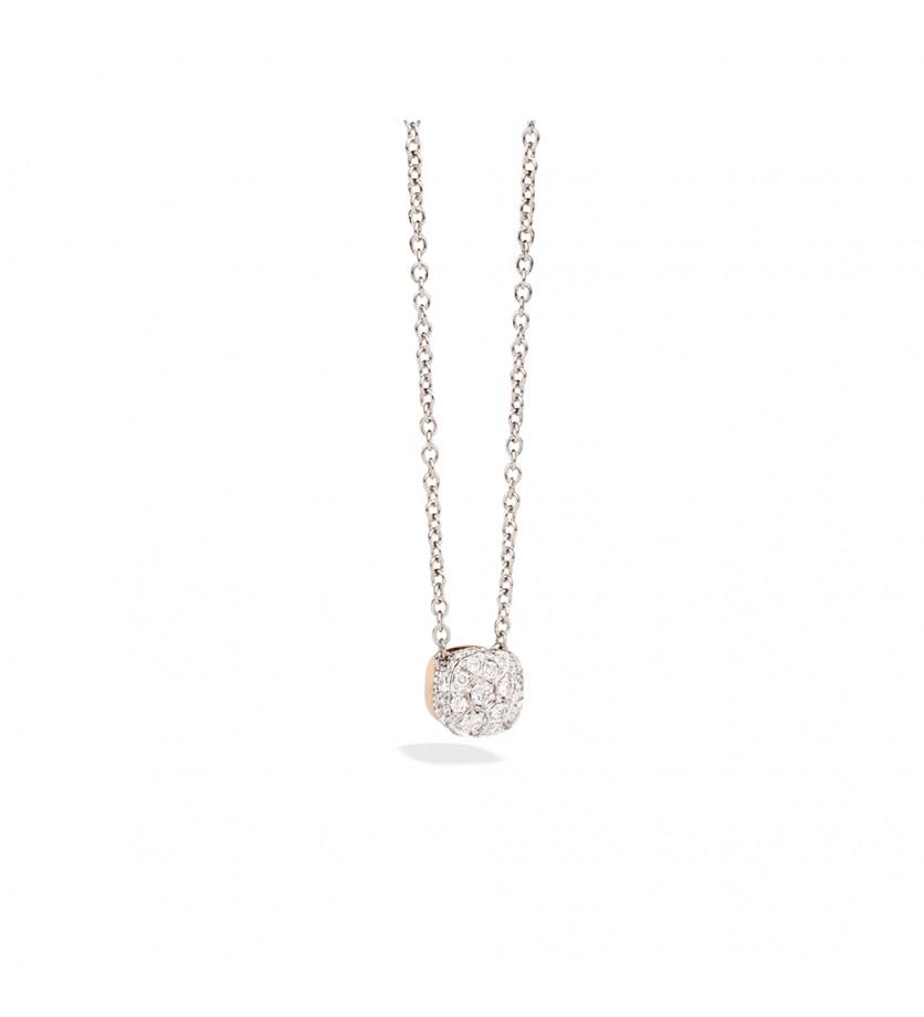 POMELLATO Collier Nudo or rose or blanc diamants