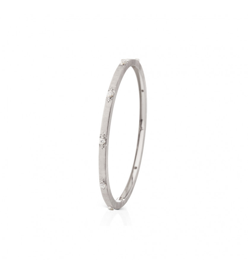 Bracelet Macri or gris diamants 3mm