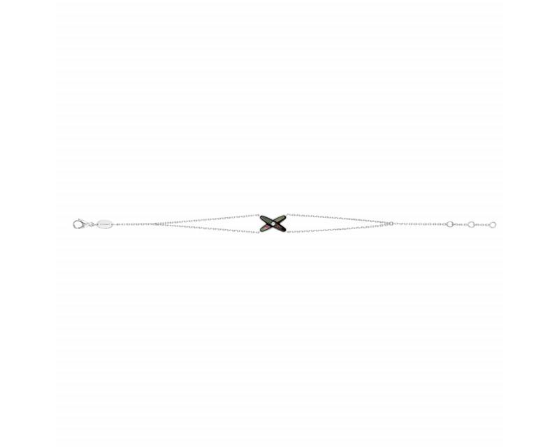 CHAUMET Bracelet Jeux de Liens or blanc diamant et nacre grise