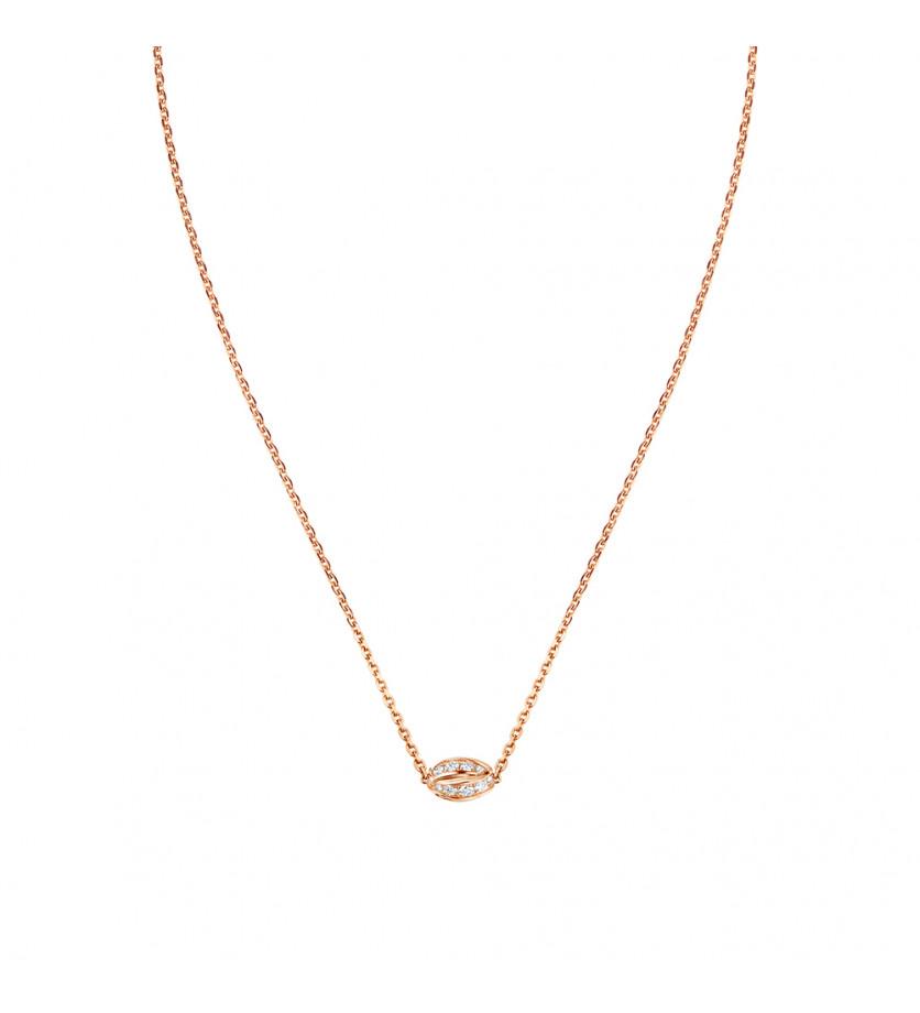 CHAUMET Pendentif Liens Séduction 1 motif or rose diamants sur chaîne