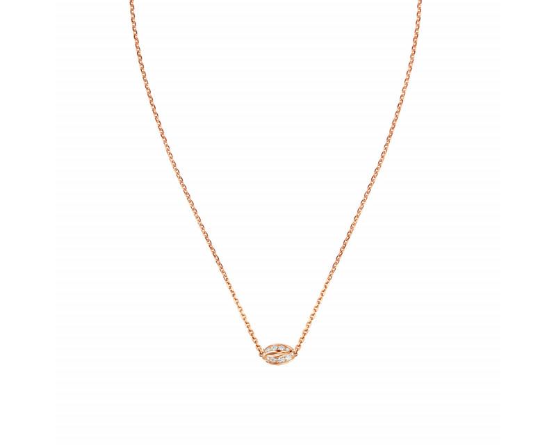 Pendentif Liens Séduction 1 motif or rose diamants sur chaîne