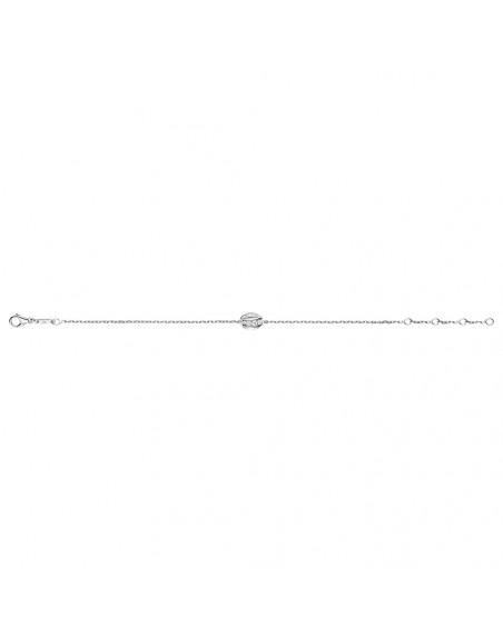 Bracelet Liens Séduction 1 motif or blanc diamants