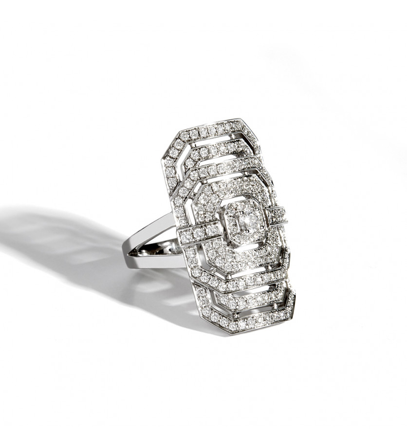 STATEMENT Bague d'index My Way argent sterling 925 rhodié diamants