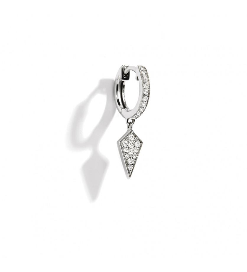 Puce d'oreille à l'unité Stairway argent sterling rhodié diamants