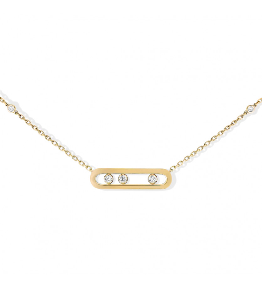 MESSIKA Collier Baby Move or jaune diamants