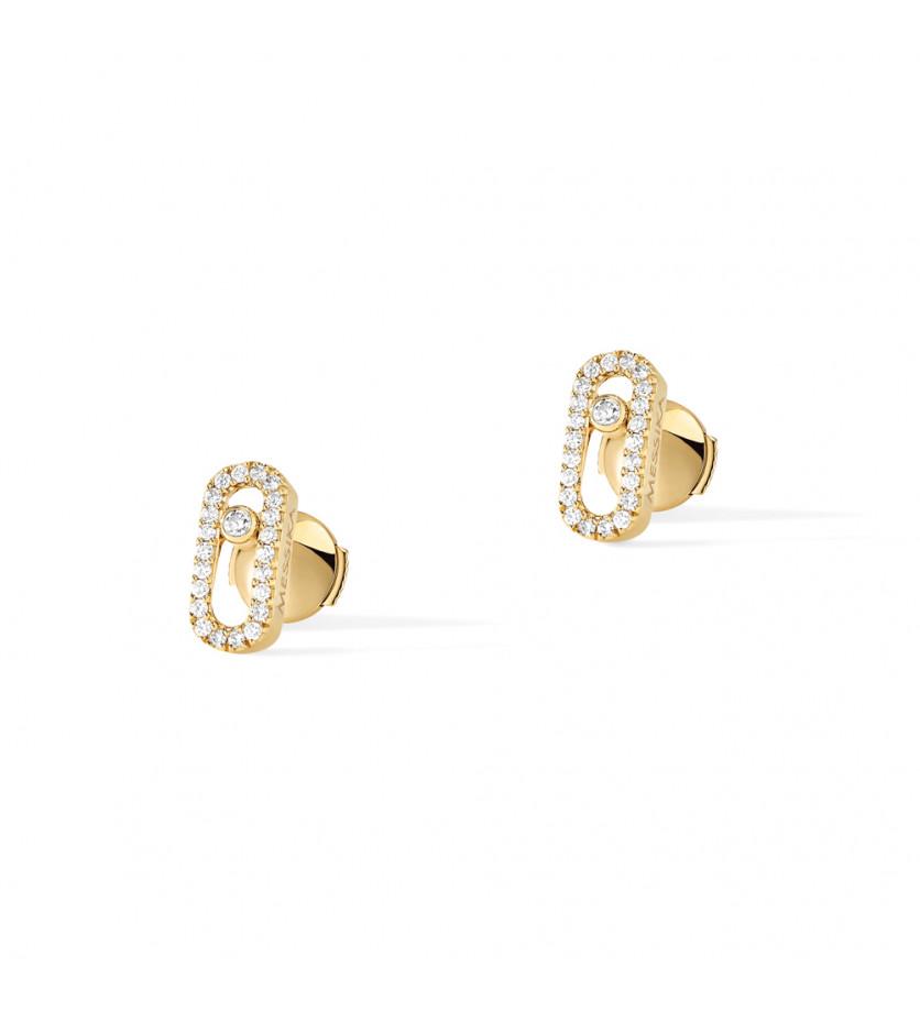 Boucles d'oreille Move Uno or jaune diamants