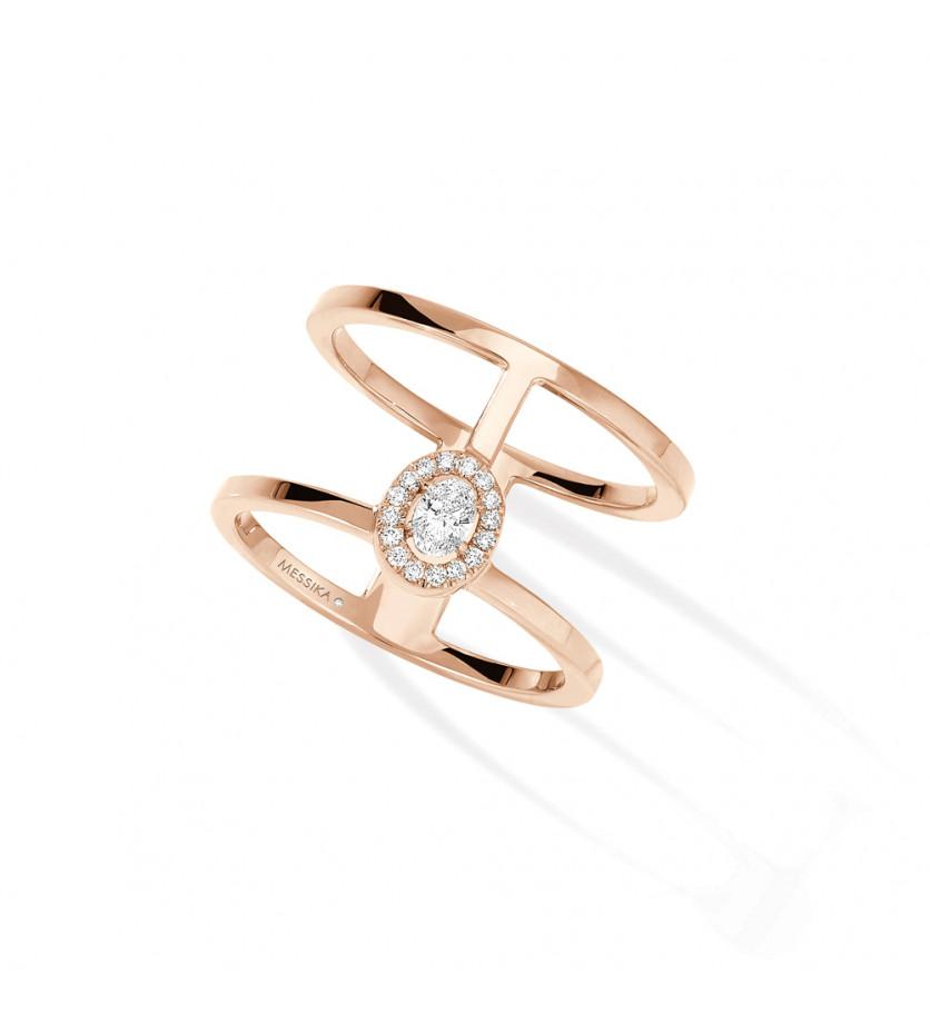 Bague Glam'Azone or rose diamants 2 rangs