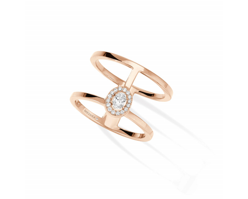 Bague Glam'Azone or rose diamants