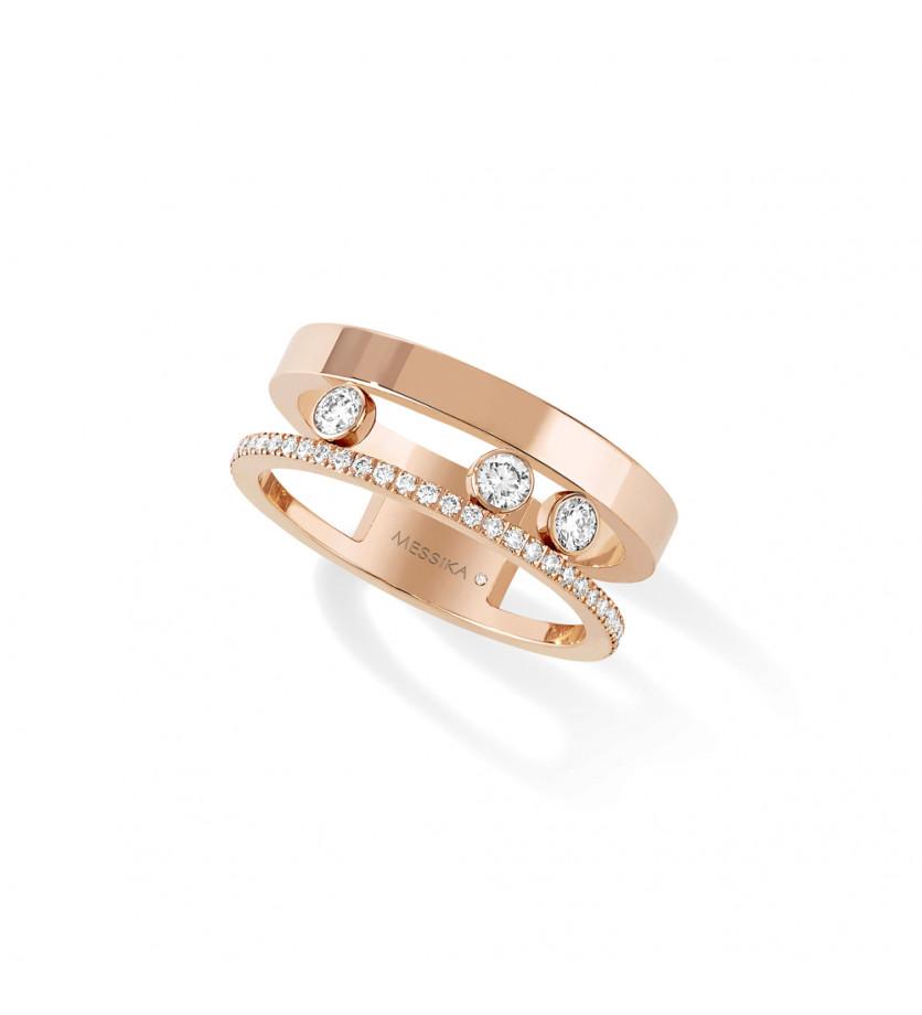 Bague Move Romane or rose diamants