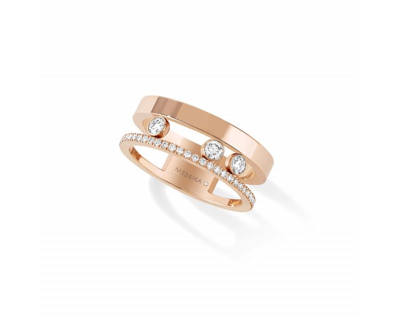 Bague Move Romane or rose et diamants