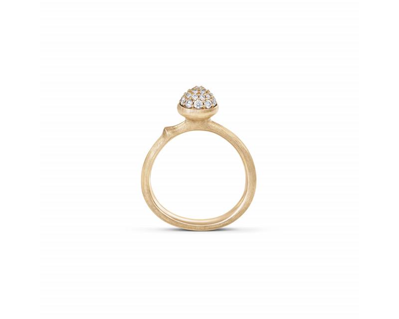 Bague Lotus PM or jaune diamants