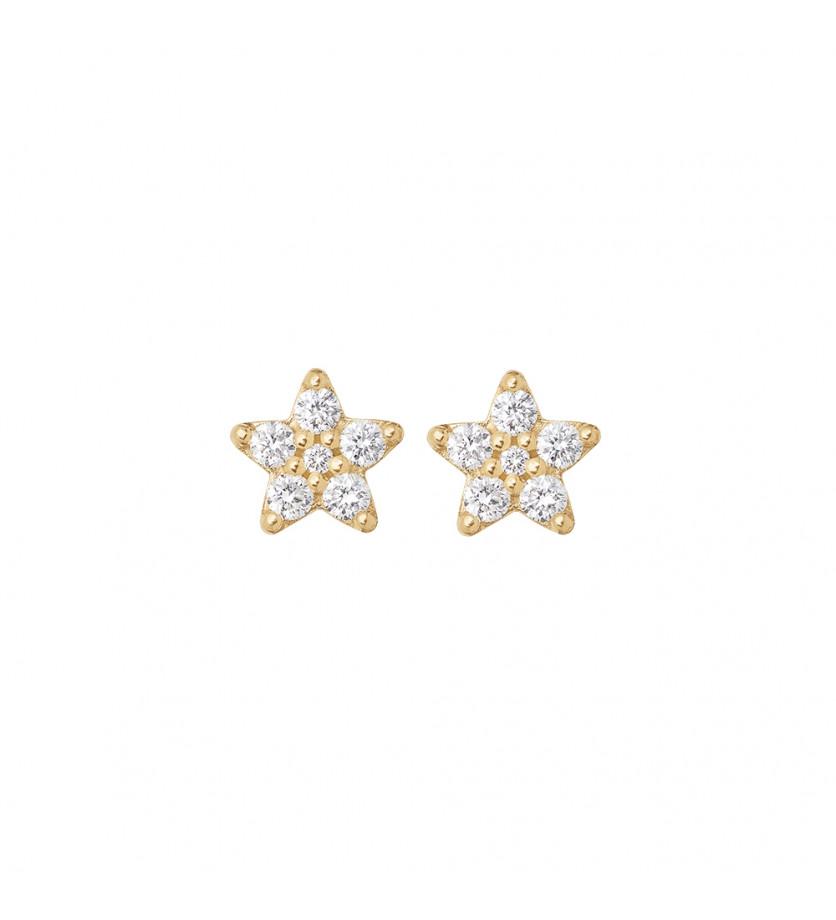Boucles d'oreille Shooting Stars PM or jaune diamants