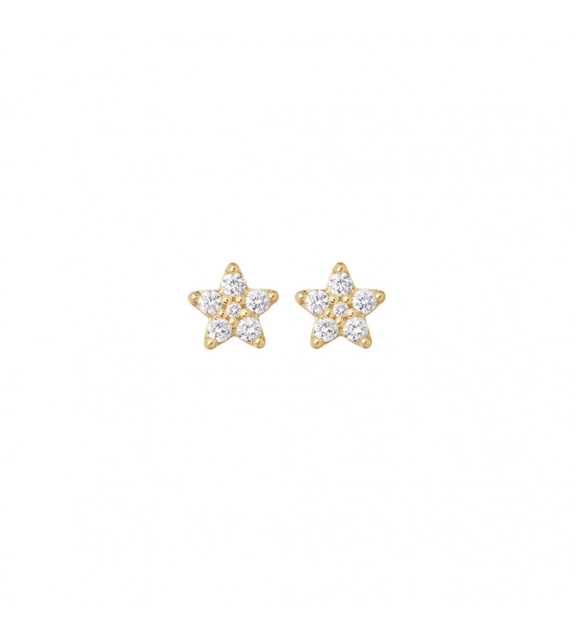 OLE LYNGGAARD COPENHAGEN Boucles d'oreilles Shooting Stars dépareillées (une mini + une petite) or j