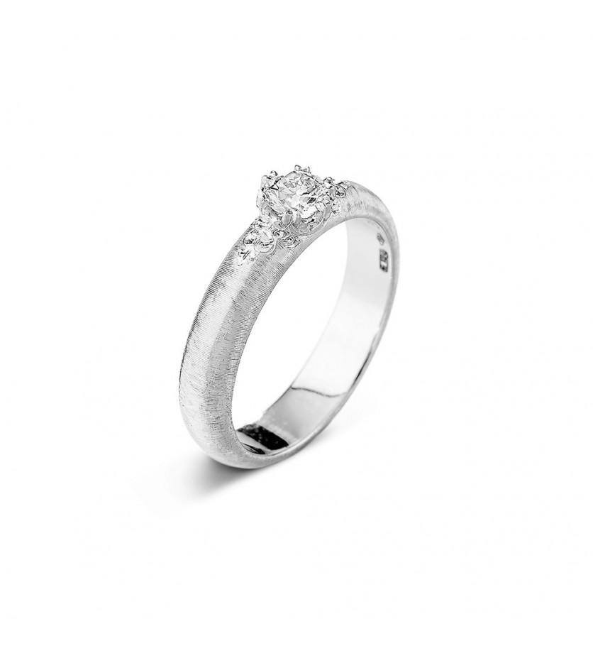 BUCCELLATI Bague solitaire Penelope or gis diamant 0,30ct FVVS2 certificat GIA 2246952621