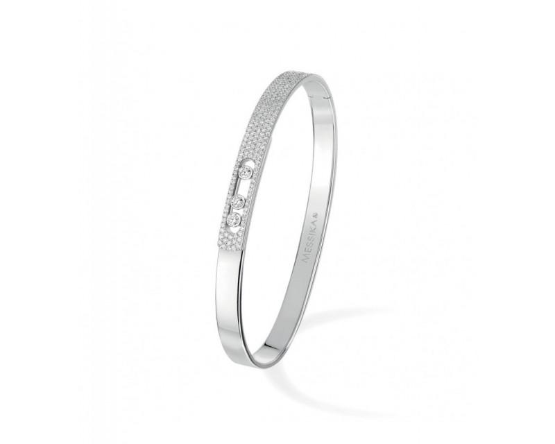 MESSIKA Bracelet bangle Move Noa PM or gris pavé diamants taille M