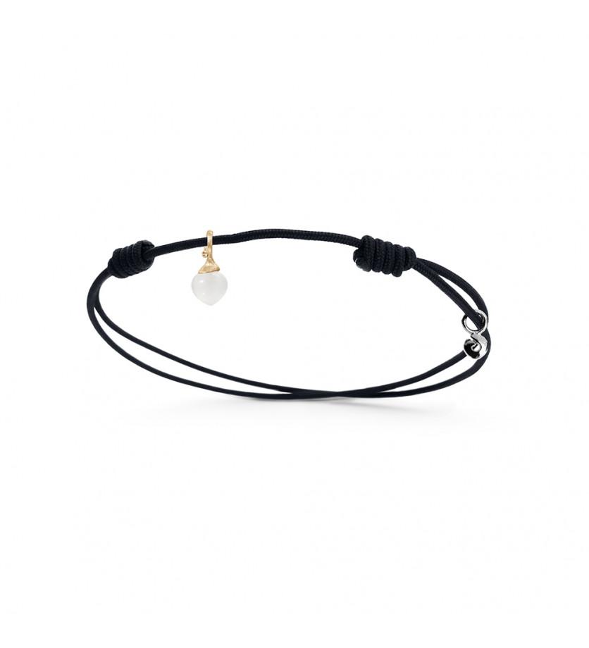 Bracelet My Little World pierre de lune blanche