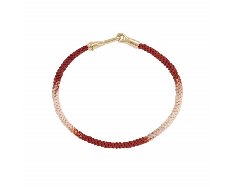 OLE LYNGGAARD COPENHAGEN Bracelet Life Red Emotions fermoir or jaune