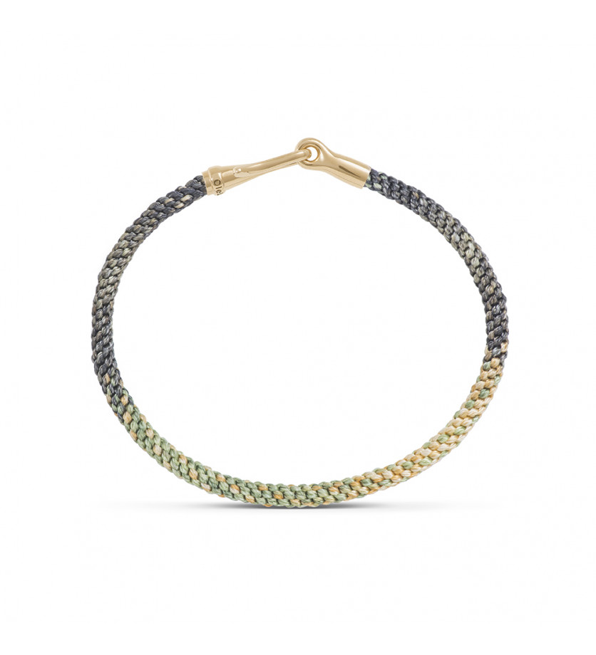 OLE LYNGGAARD COPENHAGEN Bracelet Life Safari fermoir or jaune