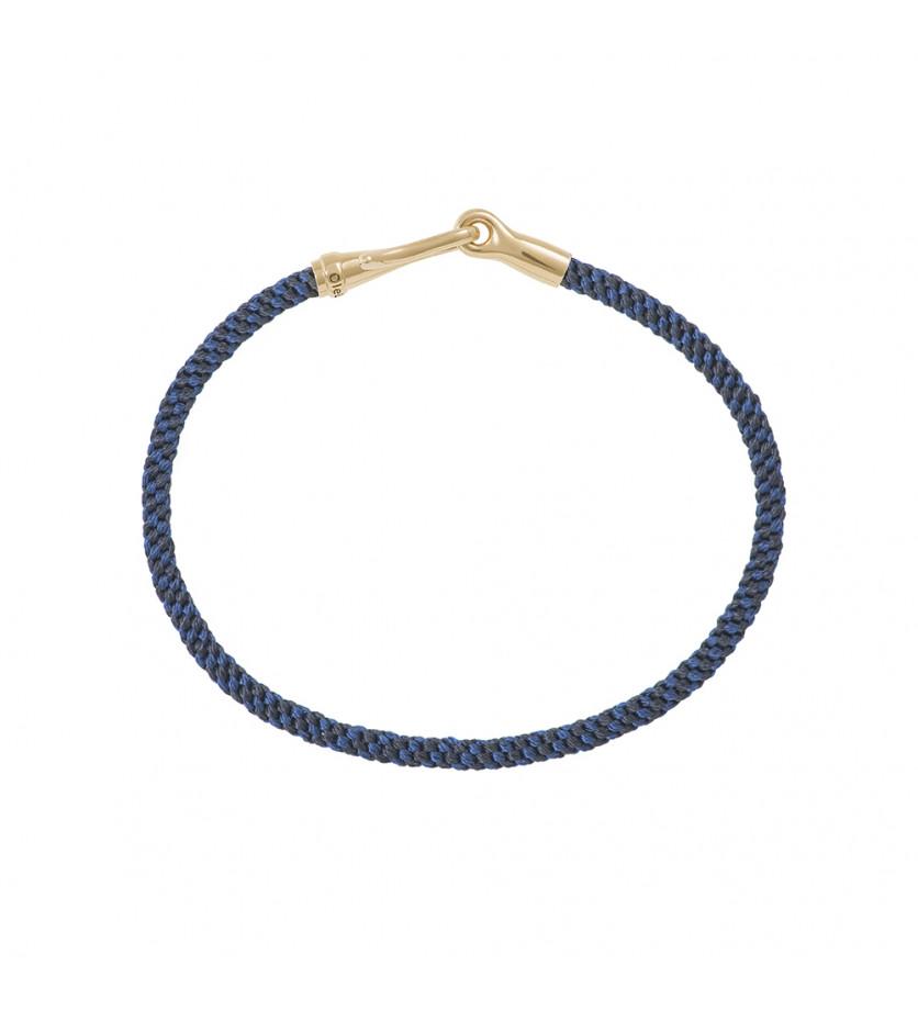 OLE LYNGGAARD COPENHAGEN Bracelet Life Midnight fermoir or jaune