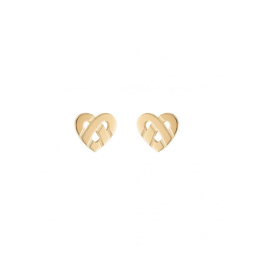 Boucles d'oreille Cœur Entrelacé mini or jaune