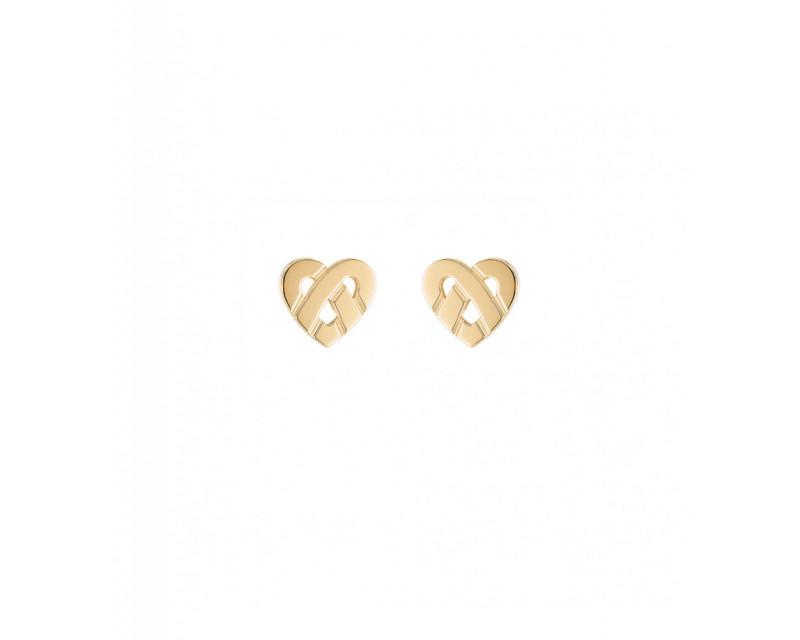 Boucles d'oreille Coeur Entrelacé mini or jaune