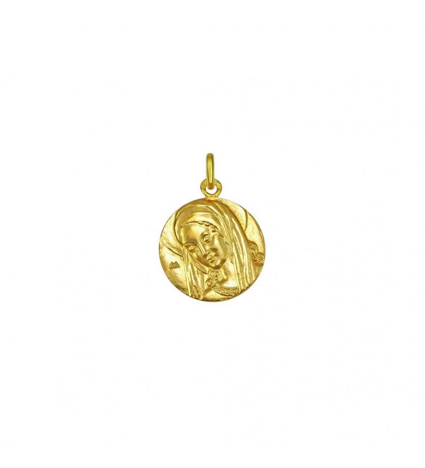 Médaille Ancilla Domini 18mm or jaune poli